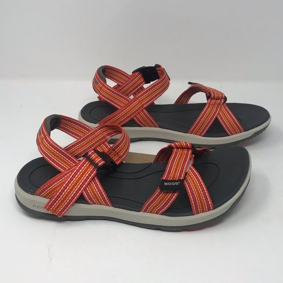 Bogs Womens Amma Leather Sandal Pick SZ//Color.
